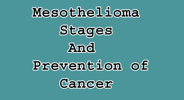 Stages And Prevention of Mesothelioma Cancer