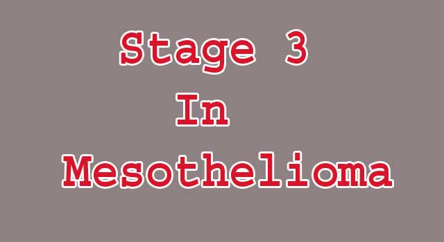 Stage 3 In Mesothelioma Cancer