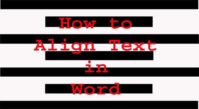 How to align text in a word document 2 steps howflux for Text align top