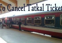 How to Cancel Tatkal Ticket