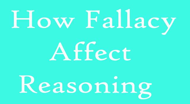 How Does Fallacy Affect Reasoning