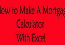 How To Make A Mortgage Calculator With Excel