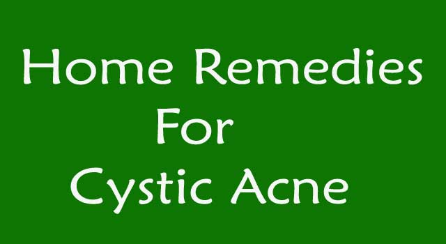 6 Home Remedy for Cystic Acne