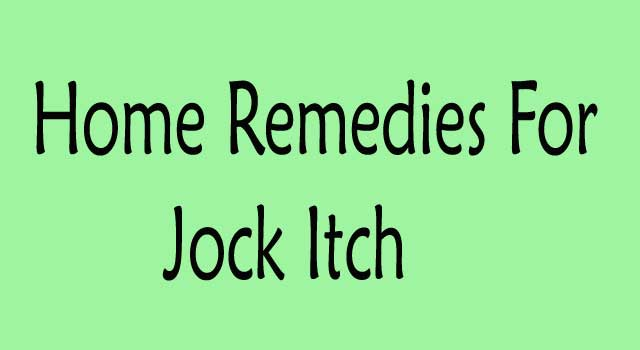 Home Remedies for Jock Itch Treatment