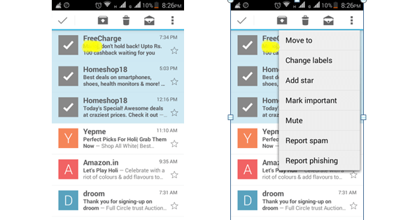 move EMails to spam in Gmail