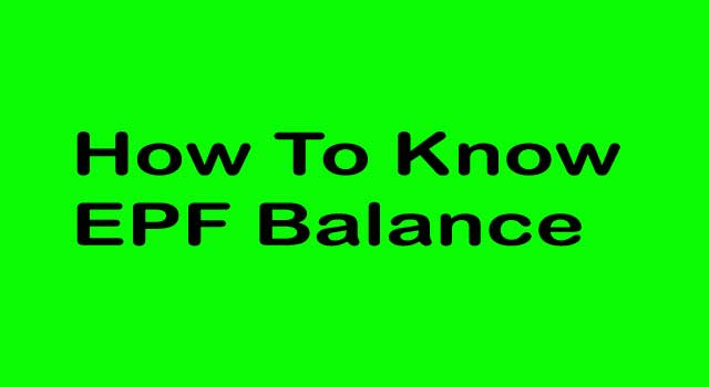 How to Know Employer Provident Fund Balance