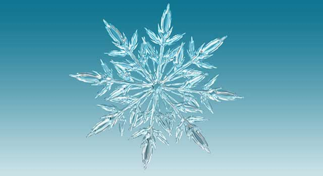 why do all snowflakes have six sides and six points