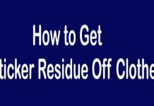 How to Get Sticker Residue off Clothes