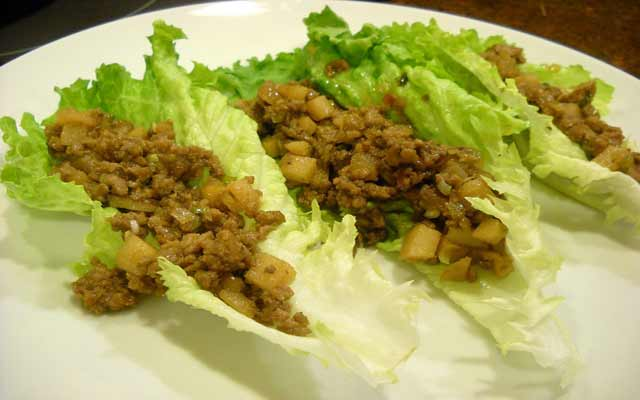 Tofu Salad and Lettuce Wraps